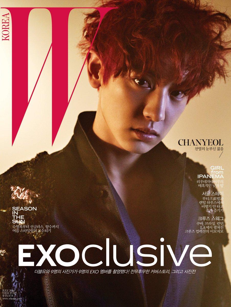 #EXOclusive Cover 6 #CHANYEOL <W Korea>와 SM엔터테인먼트의 독점 콜라보레이션 프로젝트, #EXO 멤버 9종 커버 공개! 자세한 정보는 https://t.co/XJCMXskAFK