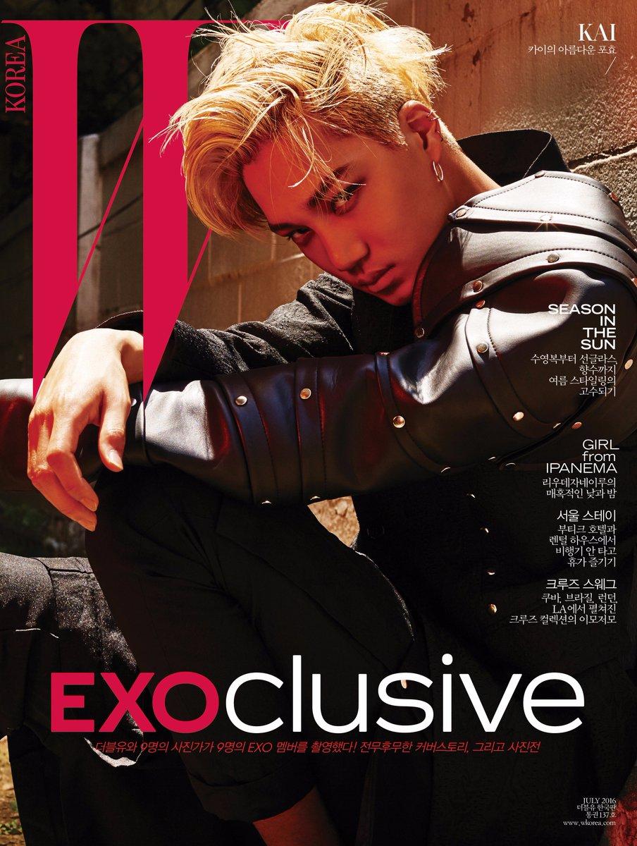 #EXOclusive Cover 1 #KAI <W Korea>와 SM엔터테인먼트의 독점 콜라보레이션 프로젝트, #EXO 멤버 9종 커버 공개! 자세한 정보는 https://t.co/XJCMXskAFK