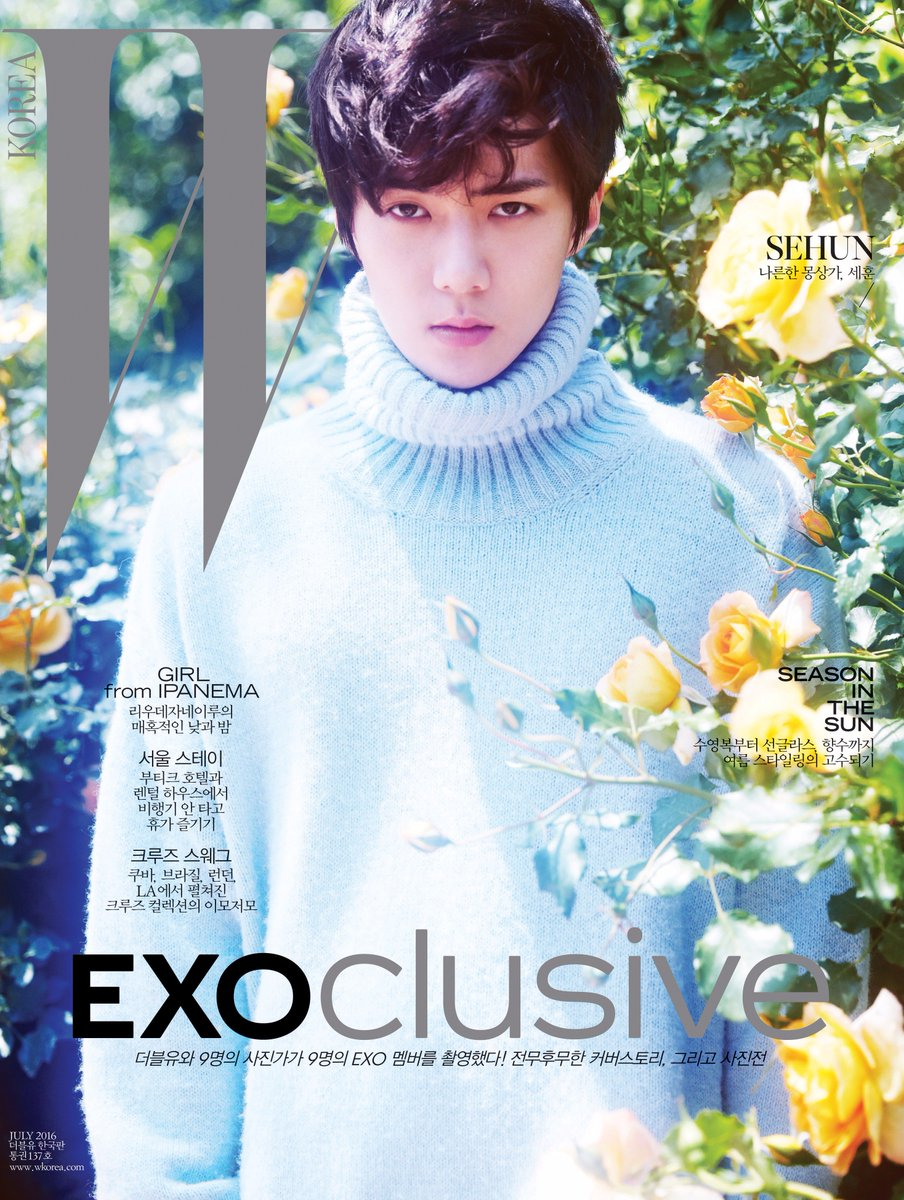 #EXOclusive Cover 3 #SEHUN <W Korea>와 SM엔터테인먼트의 독점 콜라보레이션 프로젝트, #EXO 멤버 9종 커버 공개! 자세한 정보는 https://t.co/XJCMXskAFK https://t.co/hKpblVpi2y