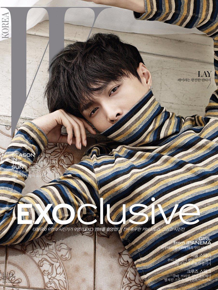 #EXOclusive Cover 4 #LAY <W Korea>와 SM엔터테인먼트의 독점 콜라보레이션 프로젝트, #EXO 멤버 9종 커버 공개! 자세한 정보는 https://t.co/XJCMXskAFK