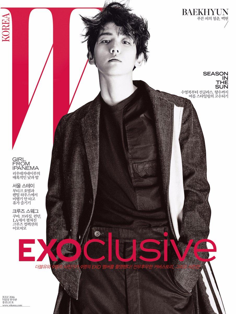#EXOclusive Cover 7 #BAEKHYUN <W Korea>와 SM엔터테인먼트의 독점 콜라보레이션 프로젝트, #EXO 멤버 9종 커버 공개! 자세한 정보는 https://t.co/XJCMXskAFK