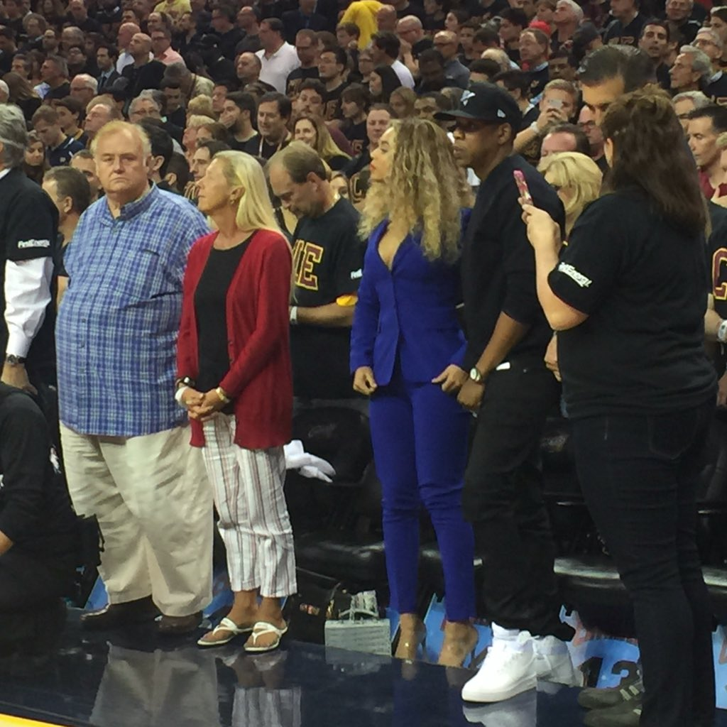 "NBA on ESPN on Twitter: ""Jay-Z and Beyoncé in the building.…"