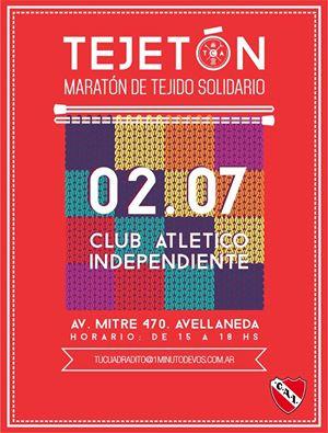 Tejetón solidario en Independiente