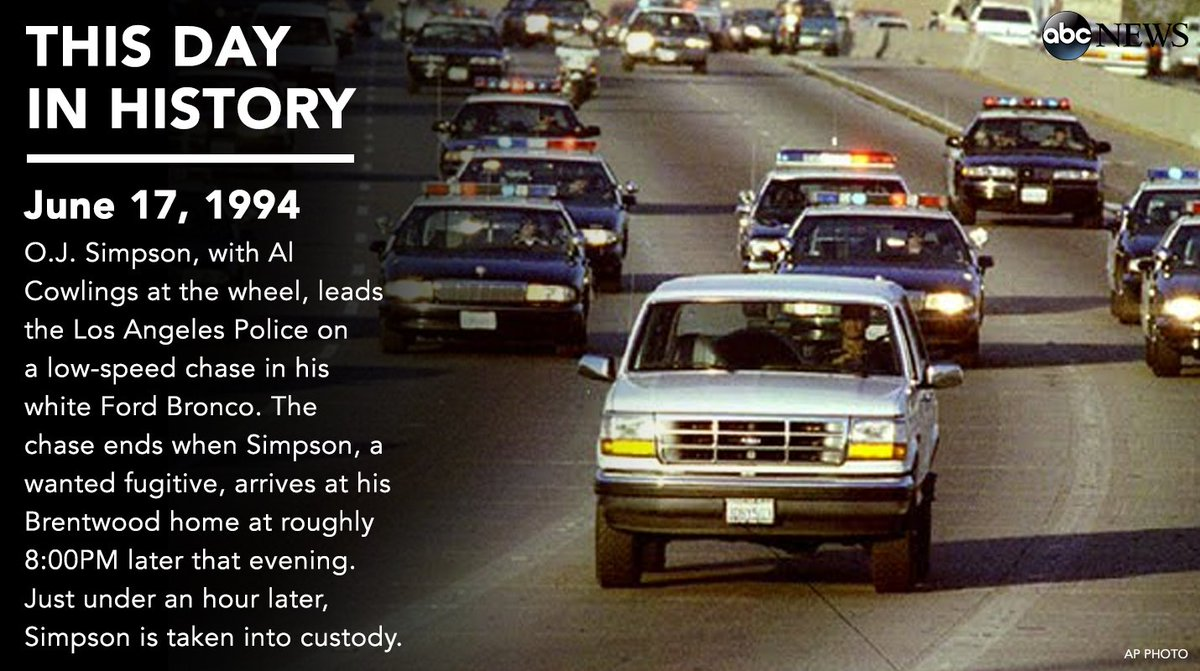 Image result for oj  simpson arrested after a low speed auto chase