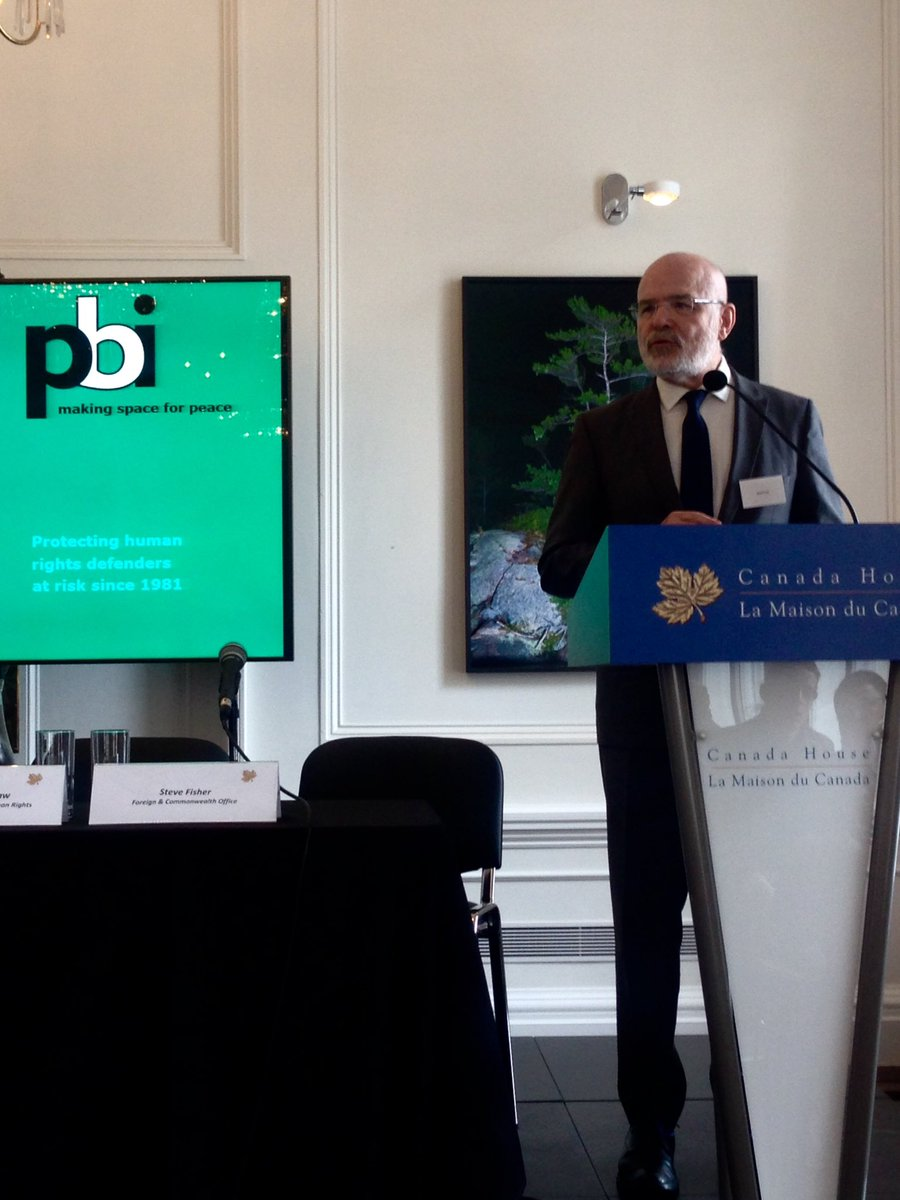 Special Rapporteur on #HumanRightsDefenders @ForstMichel calls for mining reform at @PBIUK conference now #Canada https://t.co/b9Uvosg1wq
