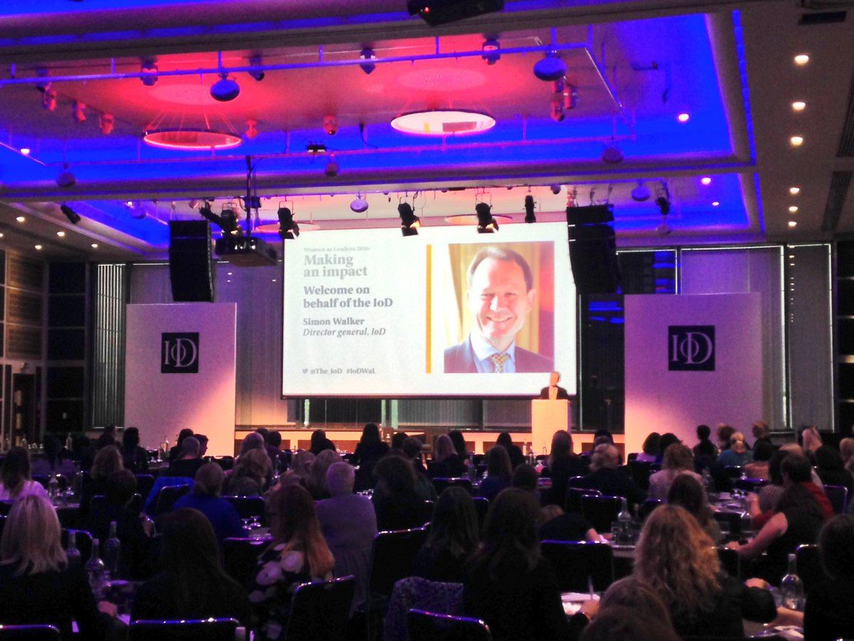 IoD Director General Simon Walker welcomes delegates to what promises to be an inspiring & empowering day #IoDWAL https://t.co/PZhnrocDvP