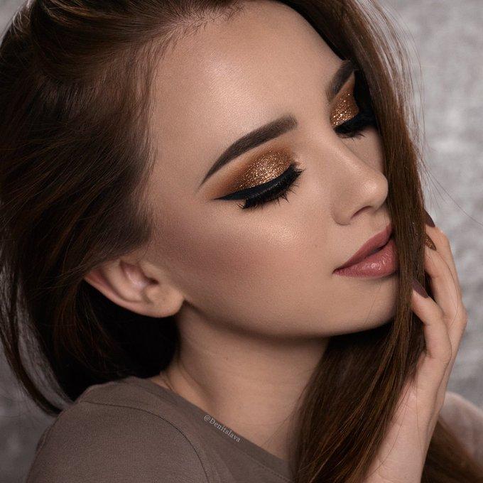 EASY Copper Glitter Smokey Eye Makeup Tutorial