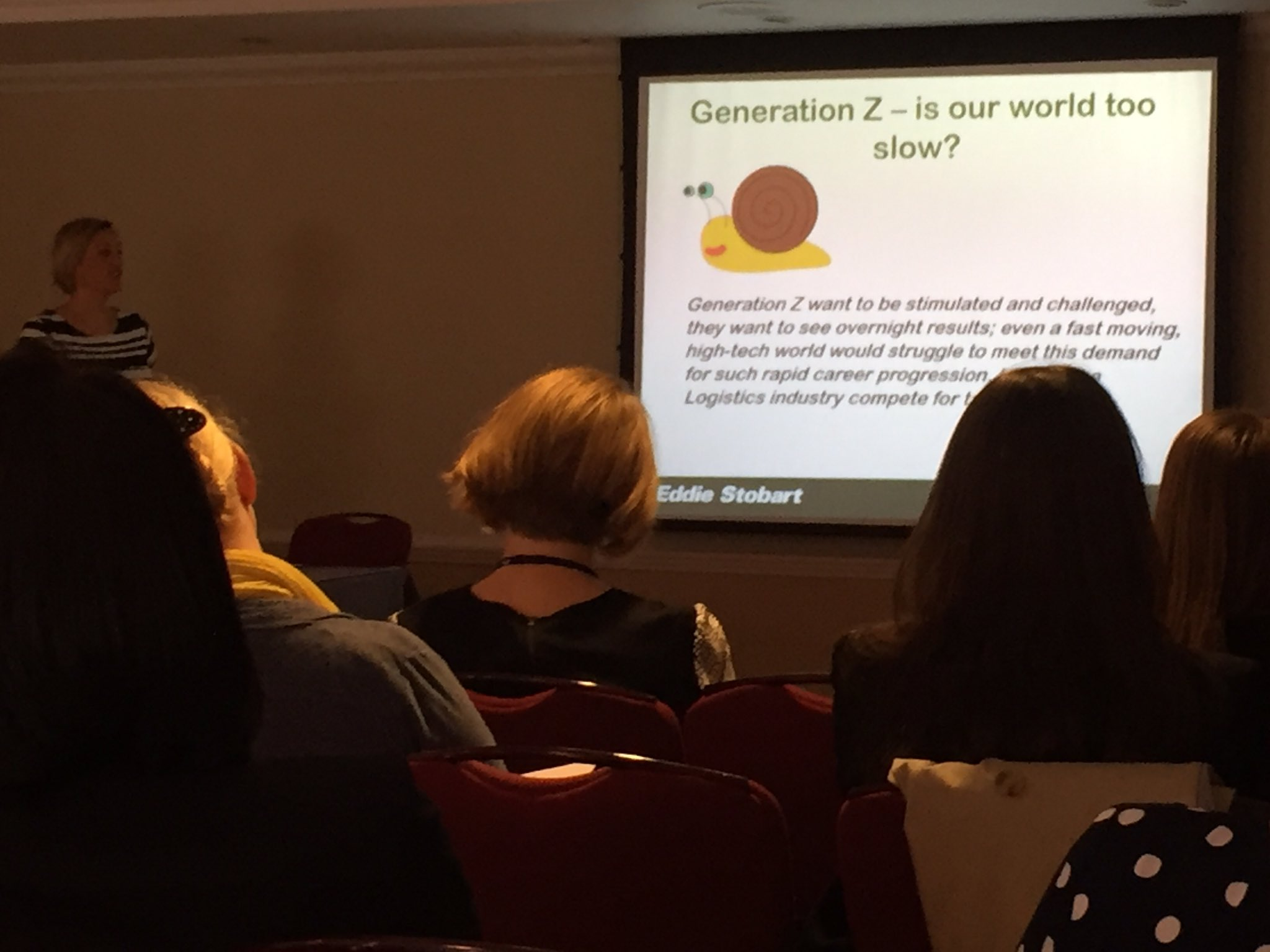 Questioning whether #logistics is too slow for Generation Z with @IsherwoodAmy at #wilconference16 https://t.co/U3yCNMjnTG