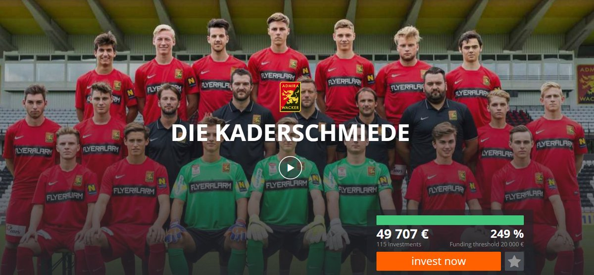300€ to the 50,000€ mark! Invest in one of Austria's top youth academies #dieKaderschmiede https://t.co/XnGSr4K83a https://t.co/K9rlIWDPQS