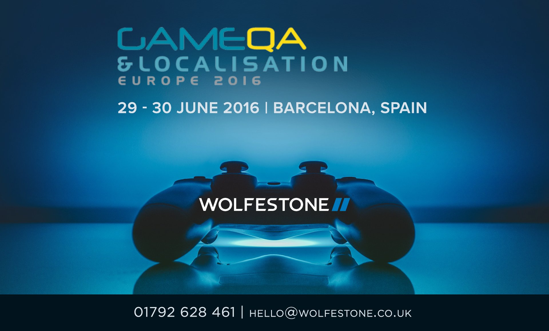 Meet Wolfestone at the Game QA & Localisation Forum on 29-30 June 2016 in Barcelona, Spain; Wolfestone provide an excellent game localisation service in over 200 languages. 01792 628 461. hello@wolfestone.co.uk