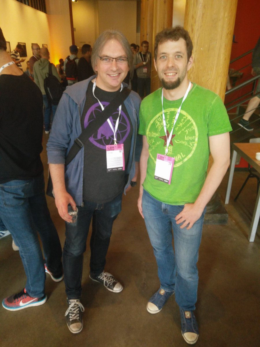 Yours truly together with web legend Jeremy Keith. While I've seen him at other conferences before, this time I actually talked to him.