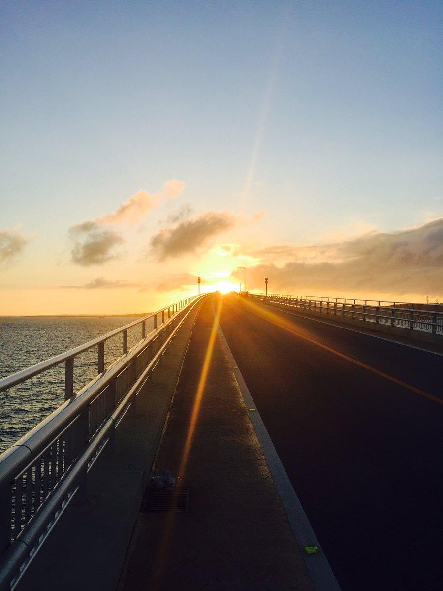 初めて走る橋。  #宮古島 #ちょっと怖かった。