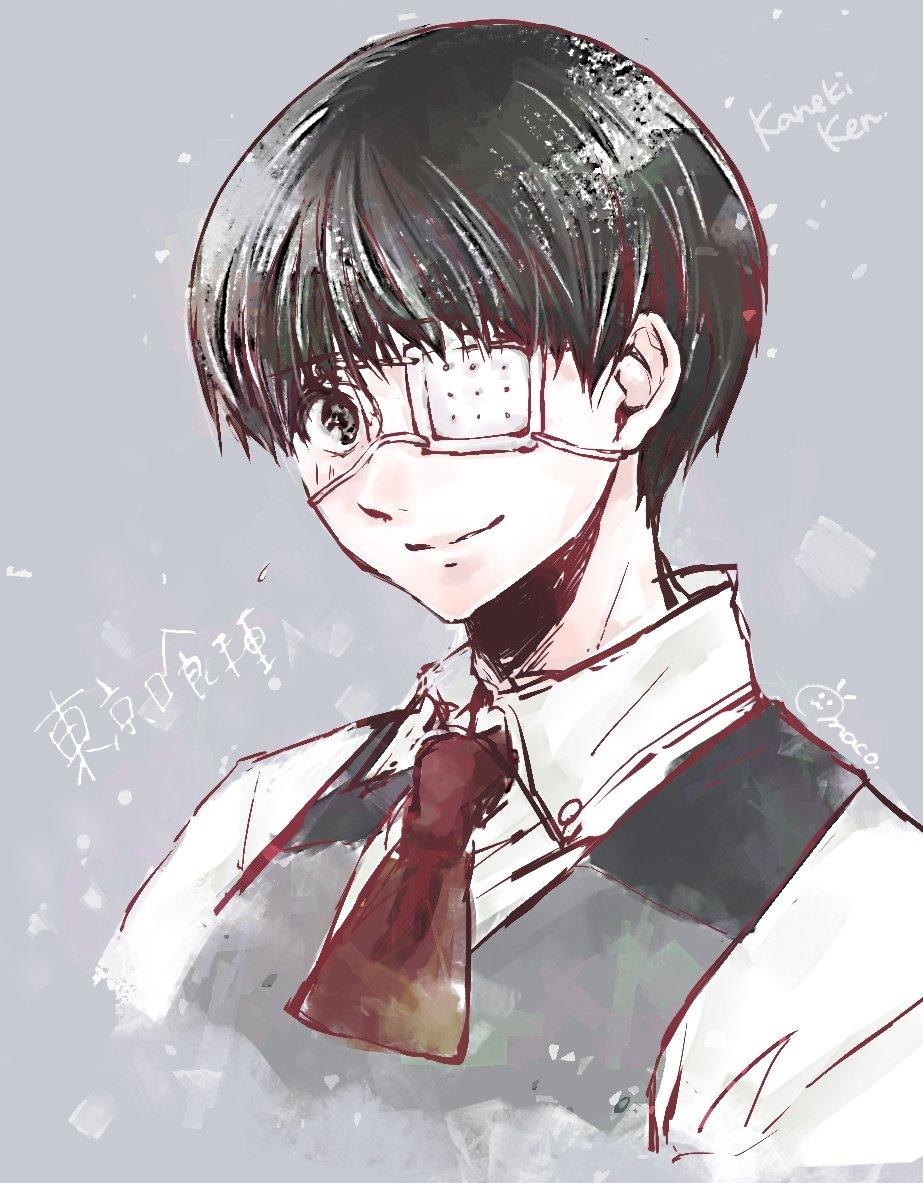 Maco みめちゃん Mimet3 からリクエストいただいた東京喰種の金木研くん W 白カネキくん描こうとしたけど私の画力じゃむりだった これで大丈夫かわからないけどリクエストありがとうでした 黒髪少年好き