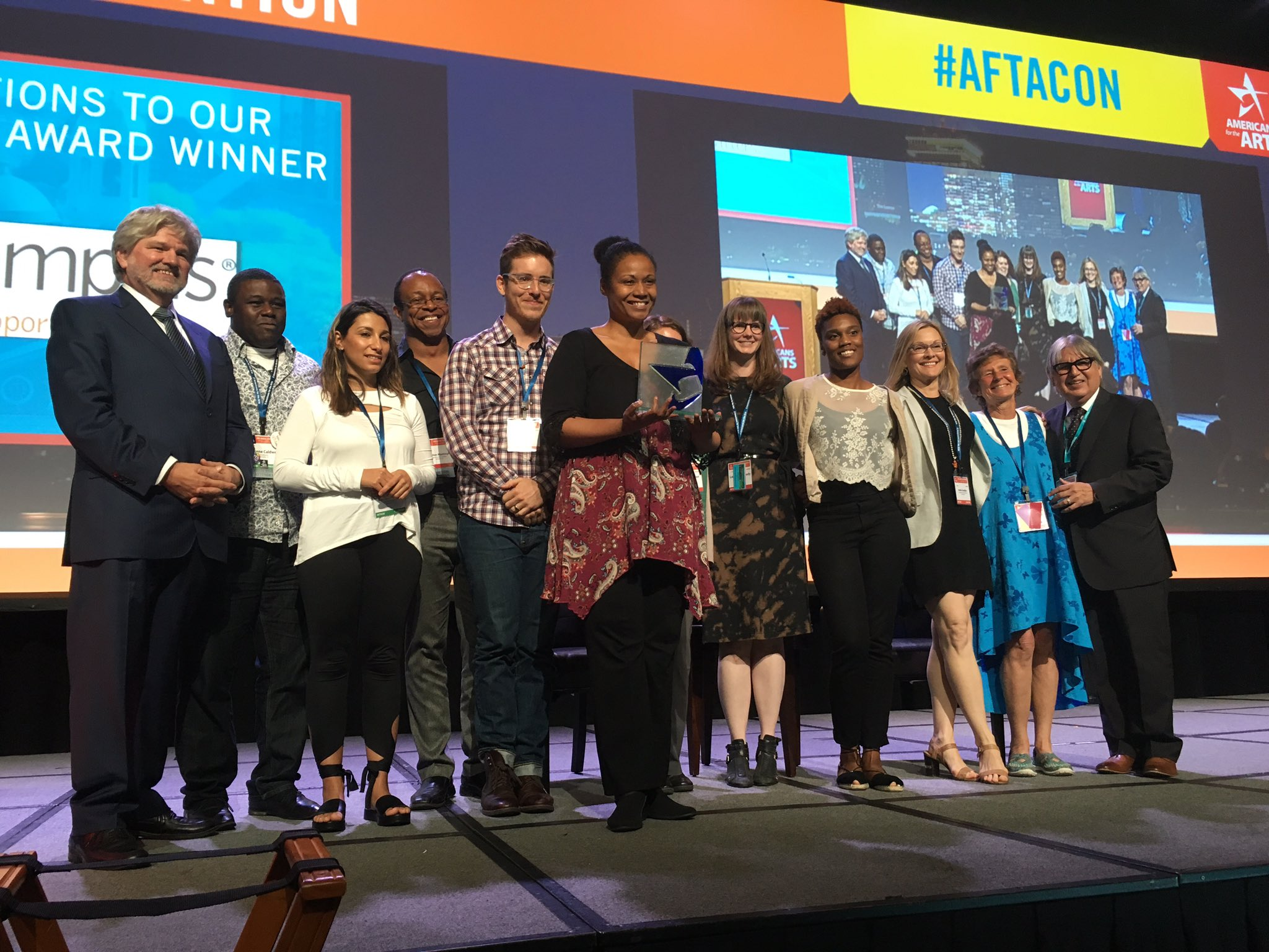 .@artsmemphis wins Gard award for their community fellows program for using the arts to drive change #aftacon https://t.co/KymYNQ2Kbj
