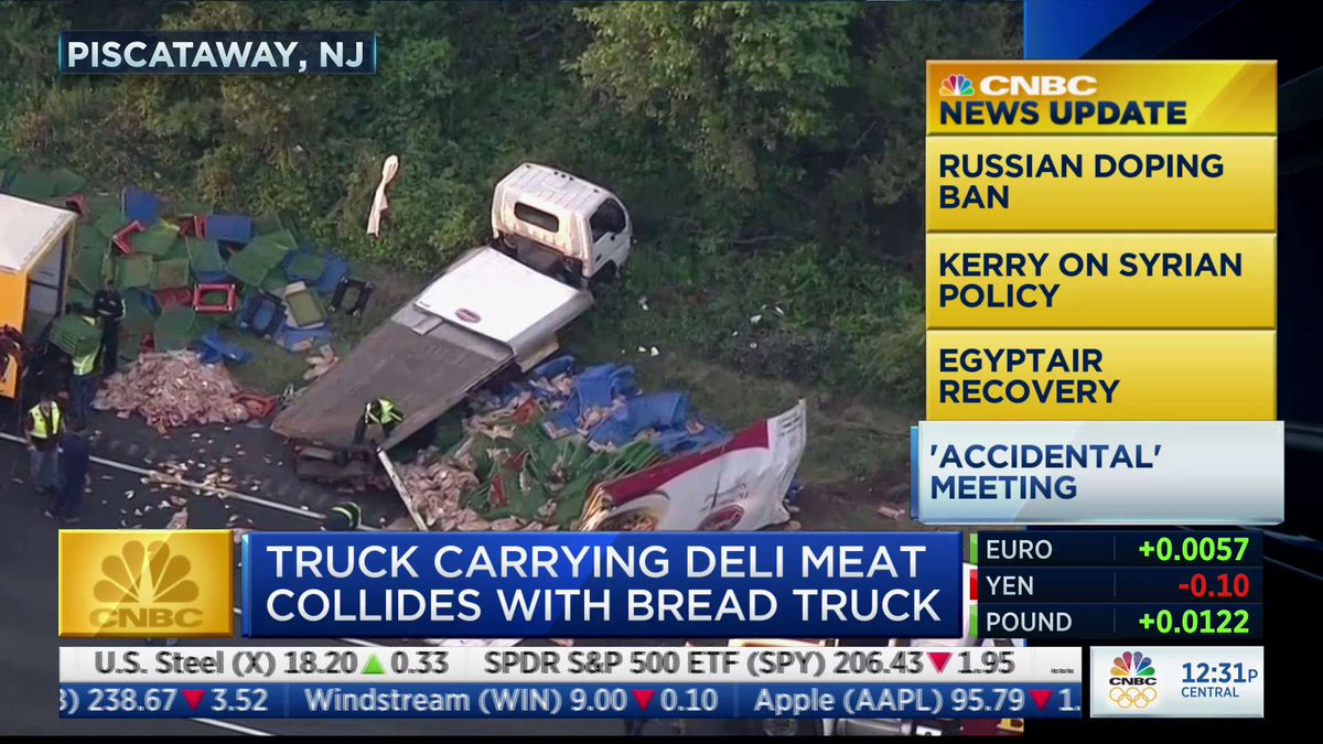 """""""Truck carrying deli meat collides with bread truck""""  That sounds bad no matter how you SLICE it https://t.co/Fh4TAi0ZDO"""