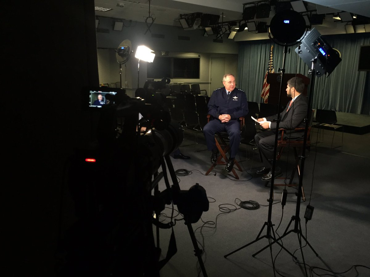 Airing June 26- @AaronMehta exclusive one on one with @GenMarkWelsh @usairforce #dntv