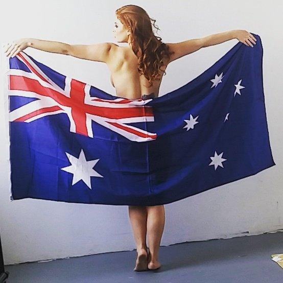 Candice Elizabeth  - Time to go b twitter @Candiceelizabth america,australia,straya,aussie,flag