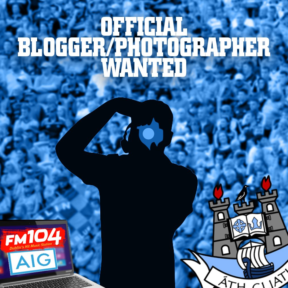 fm on official fm aig blogger wanted send send your best dubs photo 500 word report on a dubs match dubs fm104 ie t co wubdovon74