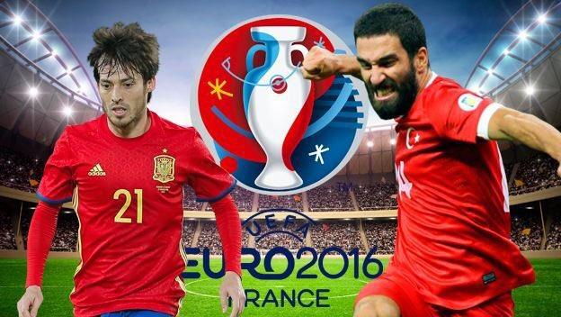 Vedere SPAGNA TURCHIA Diretta Streaming calcio gratis VIDEO Live Rojadirecta TV Oggi 17 giugno Euro 2016