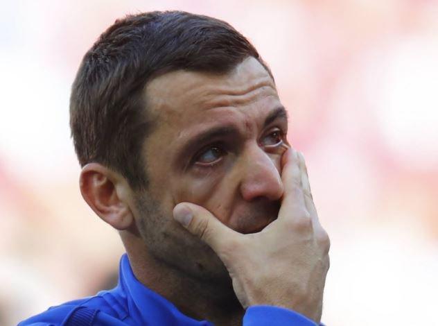 بكاء لاعب منتخب كرواتيا أثناء النشيد الوطني