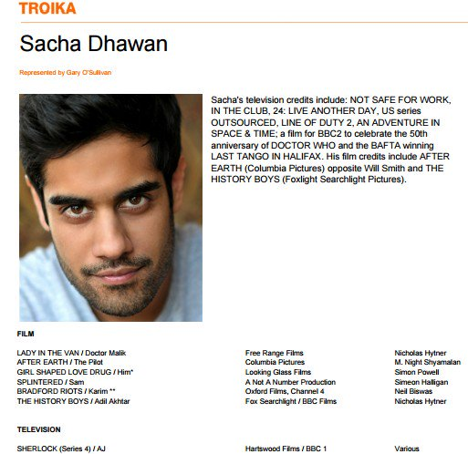 #setlock Casting info: Sacha Dhawan plays AJ in episode 1 https://t.co/La66ji2tur