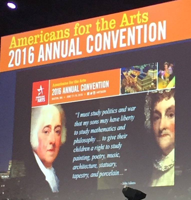 @Americans4Arts #artsceolynch Presenting a great quote by John Adams #aftacon #whyidowhatido https://t.co/4RhmO6X4r0