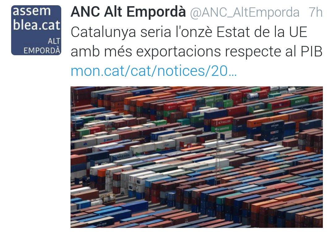 Catalunya seria l'onzè Estat de la UE amb més exportacions respecte al PIB