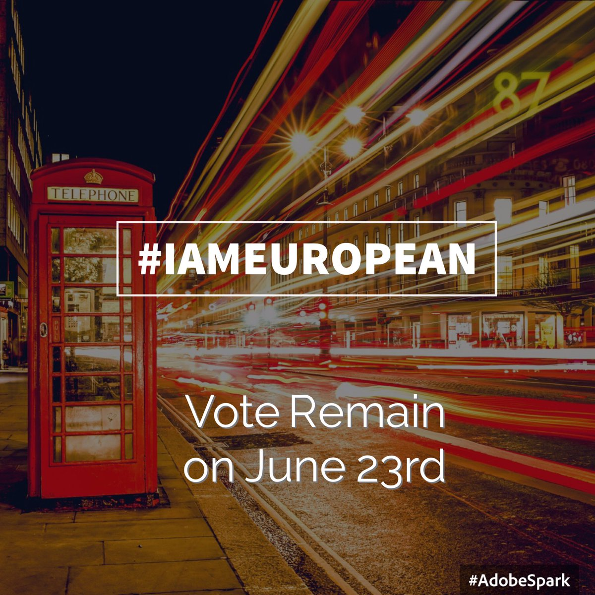 Ok let's get this going people - tweet #IAmEuropean if you are going to #VoteRemain to claim our common identity https://t.co/DkZ54bidU3