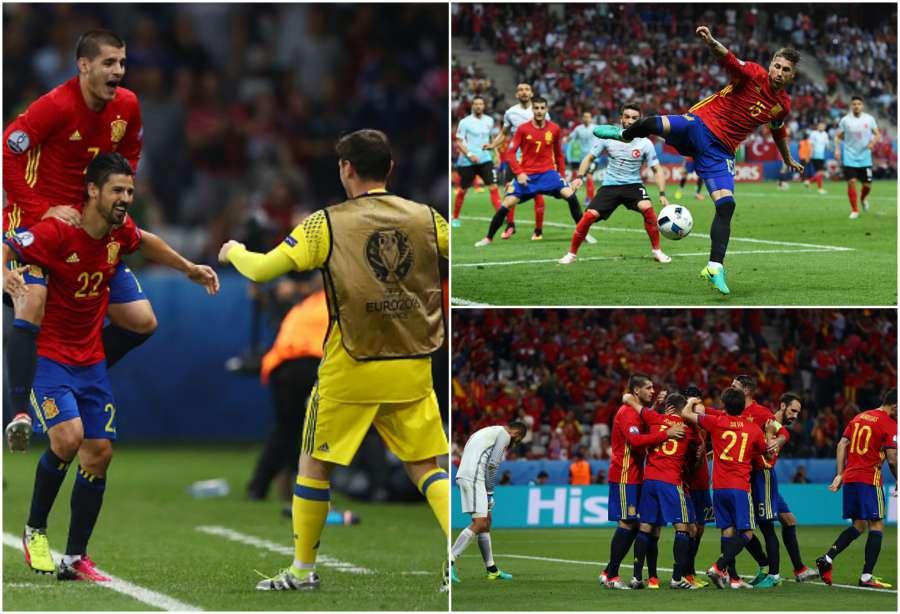 EURO2016: SPAGNA nel segno di Morata, goleada alla TURCHIA