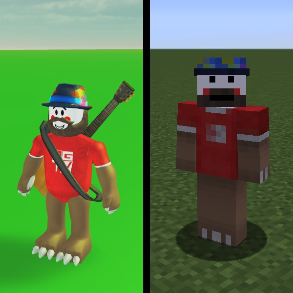 Roblox Minecraft Skin Minecraft Skin Productivemrduck On Twitter Made A New Minecraft Skin Based On My Roblox Avatar