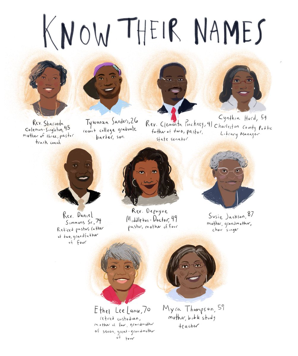 A year ago today, the #Charleston9 were gunned down inside the historic Mother Emanuel A.M.E. Church. #HateWontWin https://t.co/T6hD8jy0qk