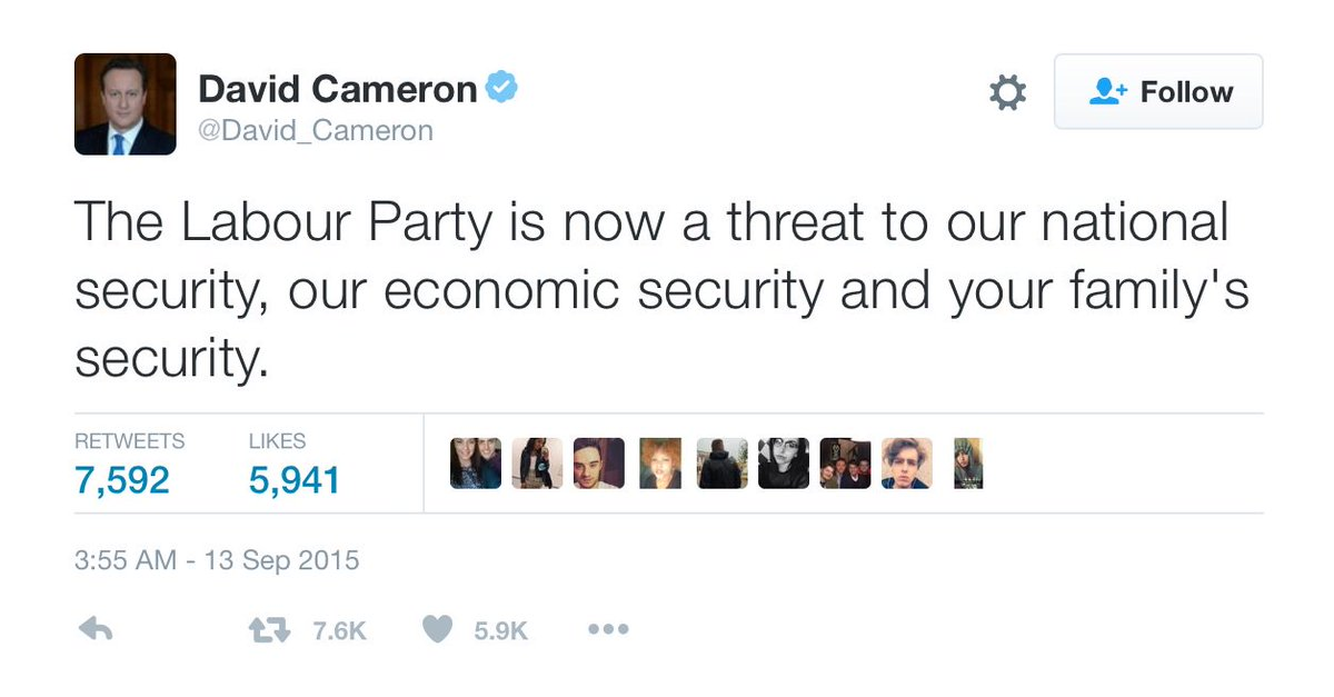 Cameron and Corbyn laid flowers together for Jo Cox. But let's not forget who incites hate and spreads fear. https://t.co/fqO5c1Gssr