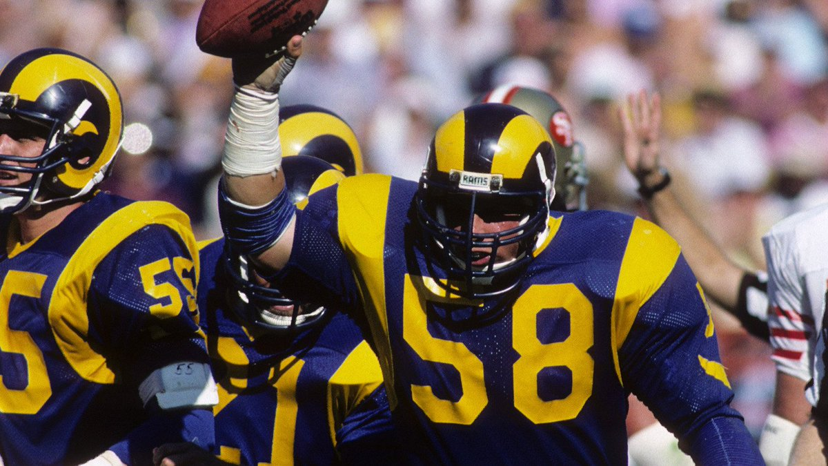 Former L.A. Rams would like current  RamsNFL to bring back old blue and  yellow uniforms 072c0399e