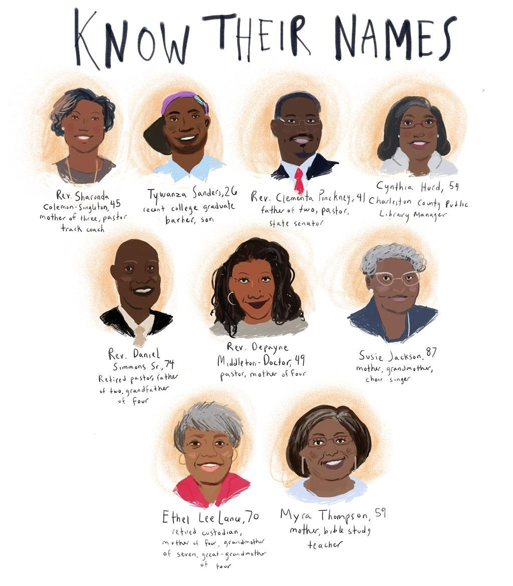 RT @sonsandbros: Today, we mark the one year anniversary of the massacre at the #Charleston Mother Emanuel church. #CharlestonStrong https:…