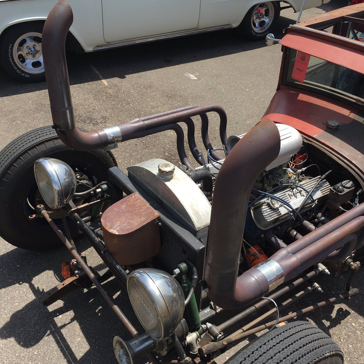 Mnpctech On Twitter Rat Rod With Wicked Exhaust Vintage Race Car 2016 Btt50s Hotrod Streetrod Stpaul Minnesota Hotrodmagazine