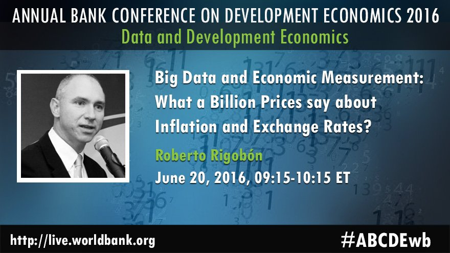 Annual Bank Conference on Development Economics 2016: Data and Development Economics