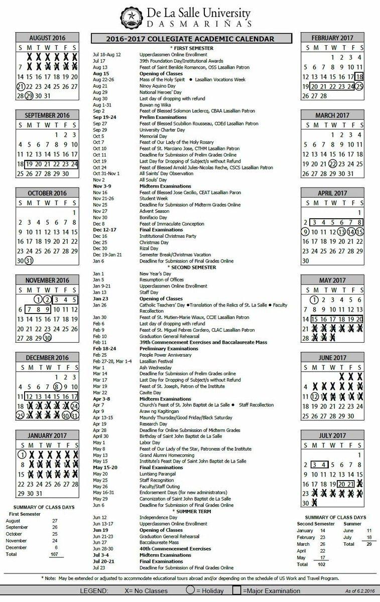 Usc Academic Calendar 2017 | Calendar 2017