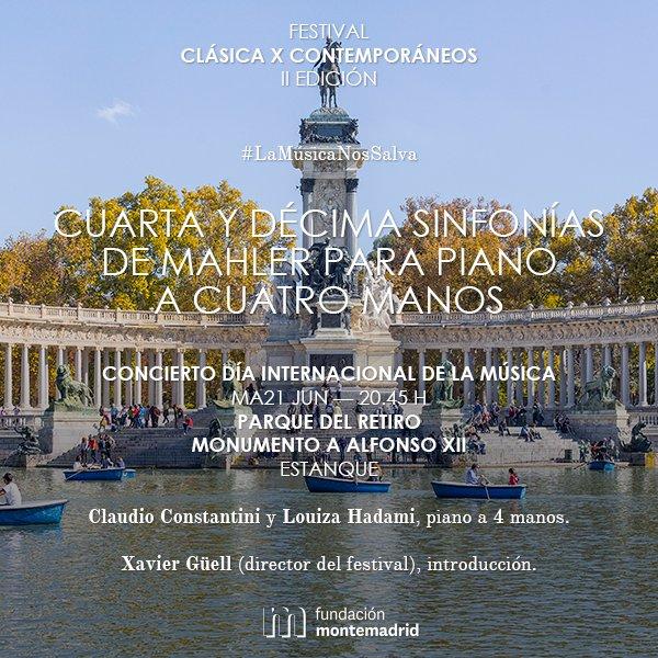 Nos llevamos el piano de cola y la música de #Mahler al @ElRetiro para celebrar el #DíaDeLaMúsica #LaMúsicaNosSalva https://t.co/f0pCOkfmjL