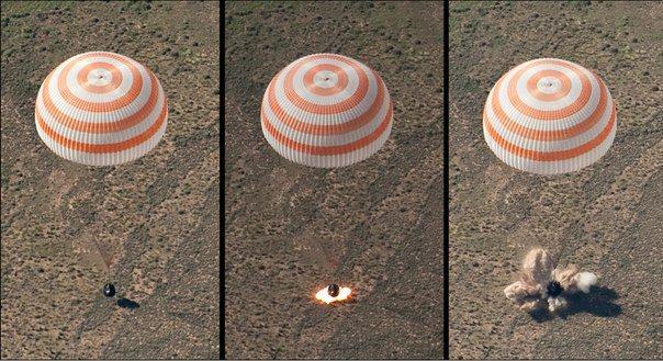 Sojuz osuu Maahan