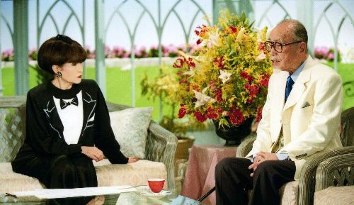 2001年、徹子の部屋に最後に出演した時の、88歳の森繁久彌さん。 #トットてれび #nhk https://t.co/tIvVB75aoU
