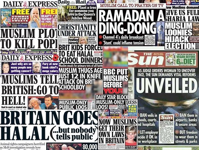 British racist newspapers