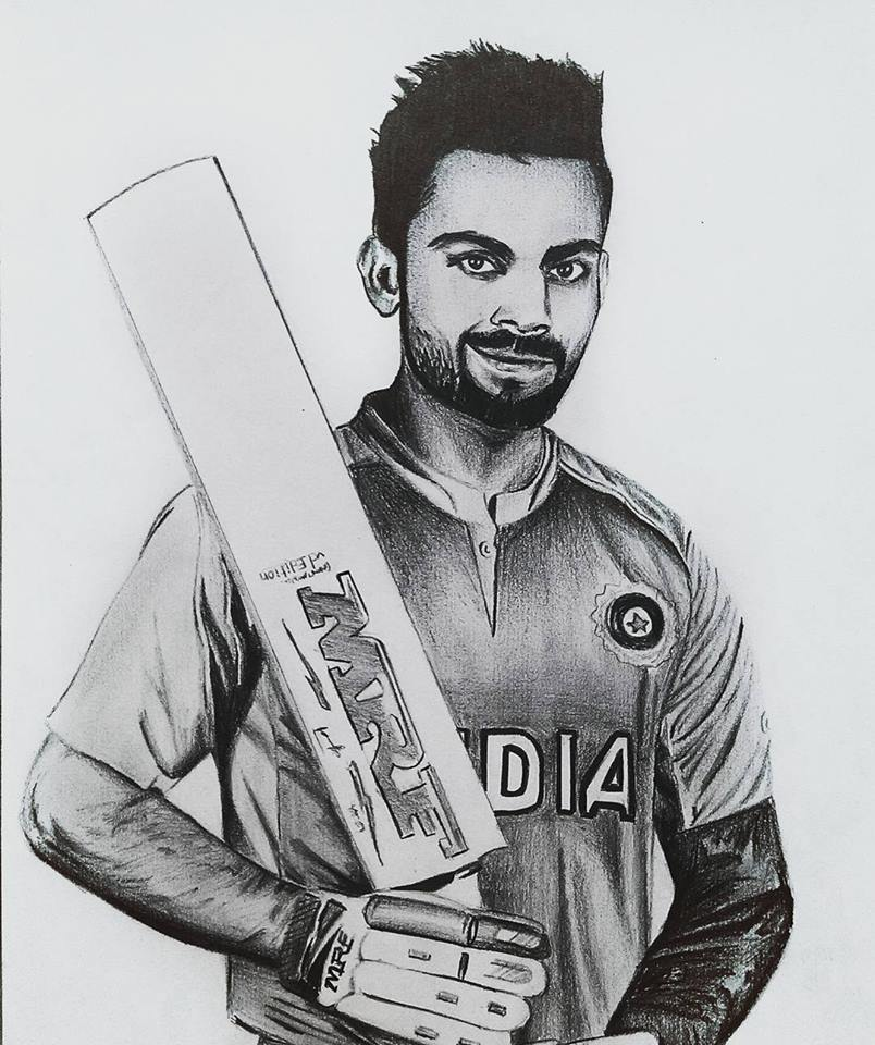 Cricfit On Twitter A Brilliant Pencil Sketch Of Virat
