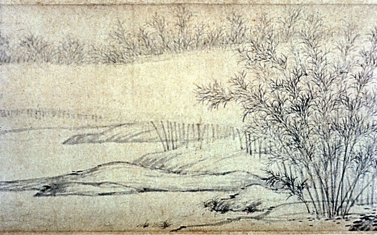 """WOMENSART on Twitter: """"Most famous female painter in Chinese history Guan  Daosheng, Bamboo Groves in Mist and Rain,1308 #womensart… """""""