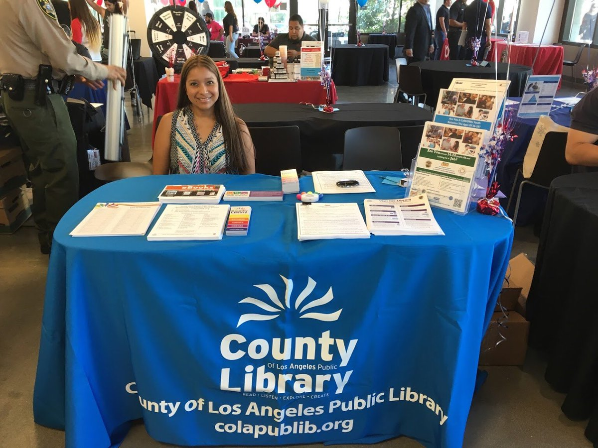 RT @LACountyLibrary We're at the Youth Summer Job & Resources Fair at East LA College from 10 am - 3 pm-Stop by! @LACountyCSS #youthjobs