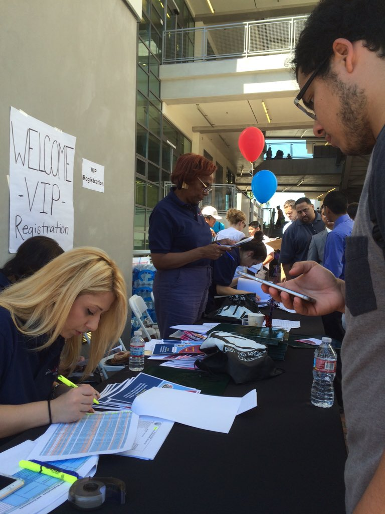 Check ins are happening now! It's not to late to get to the job fair! #youthjobs #jobfair #elac