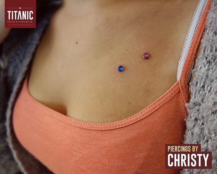 Titanic Tattoos On Twitter Chest Dermals Done By Chirsty Christy