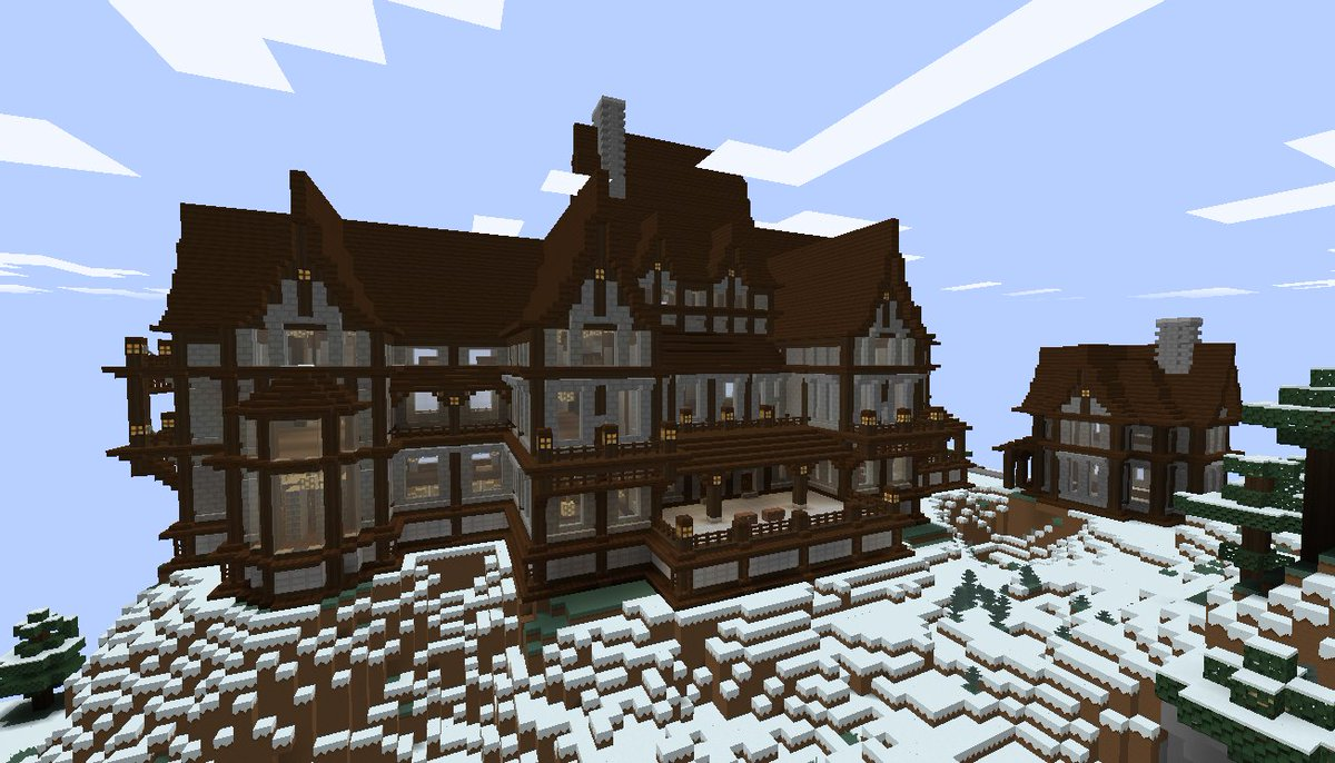 Minecraft Creations On Twitter Winter Mansion In Minecraft By Slanderspete
