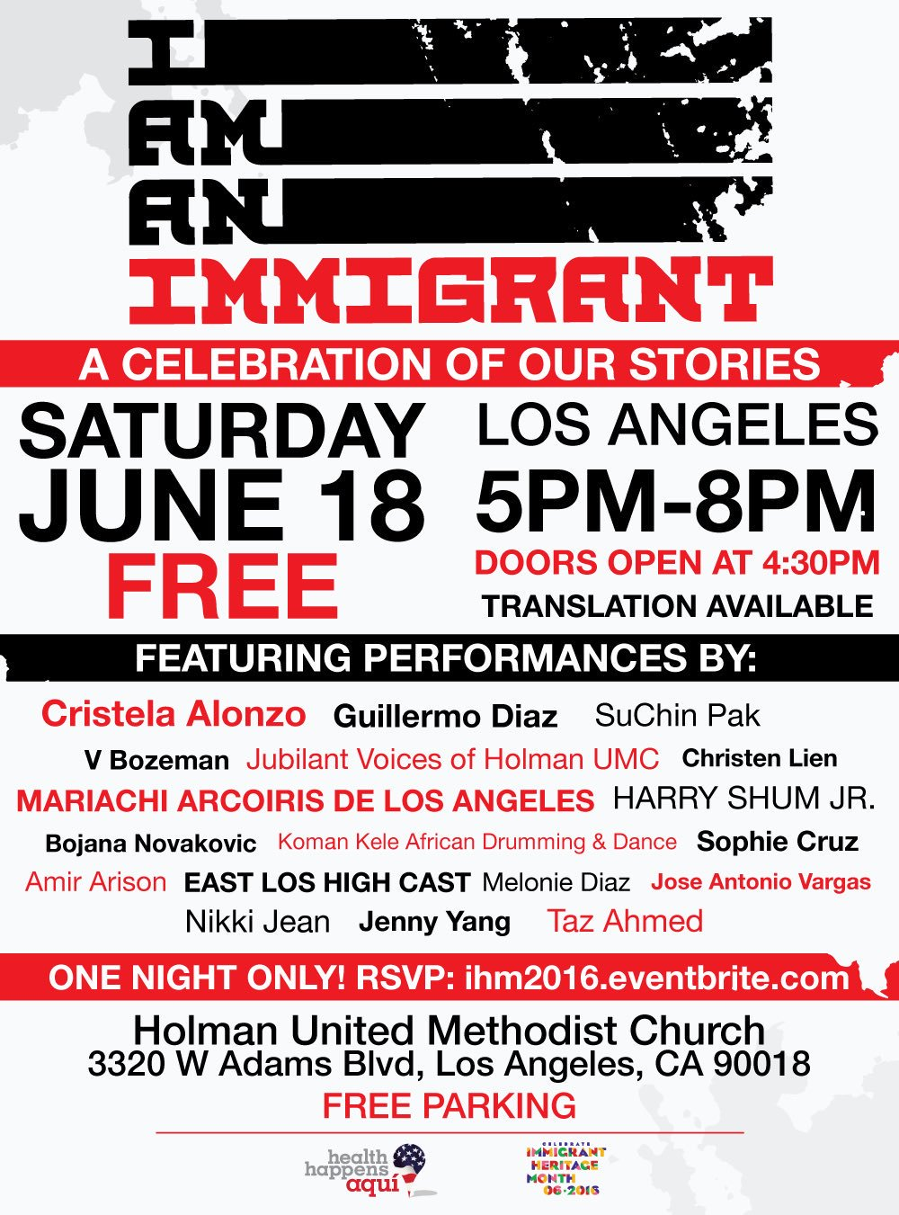 RT @Welcome_us: Tonight's the night, #LA...come to our #IAmAnImmigrant event!!! (Pssst: It's free ;) #IHM2016 https://t.co/wofbhp4oAR