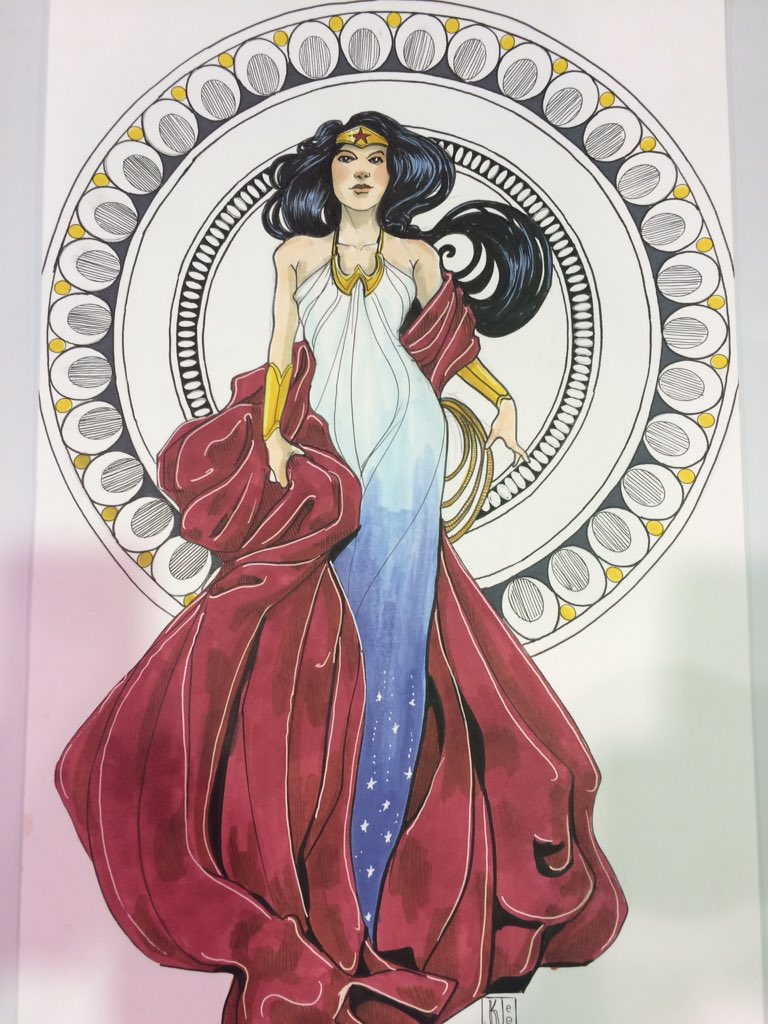 My contribution to the #HeroesCon art auction: Art Nouveau Wonder Woman. https://t.co/pJxENCBSsh
