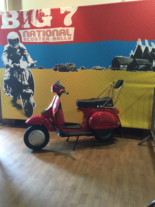 Whose partying the night away with us at the @TheBig7Rally 2016 #hopfarm #scooterrally #oldschool #partytime https://t.co/9IeZQCUUqu